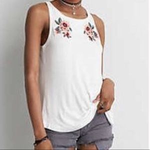 American Eagle | Soft & Sexy Embroidered Tank | M
